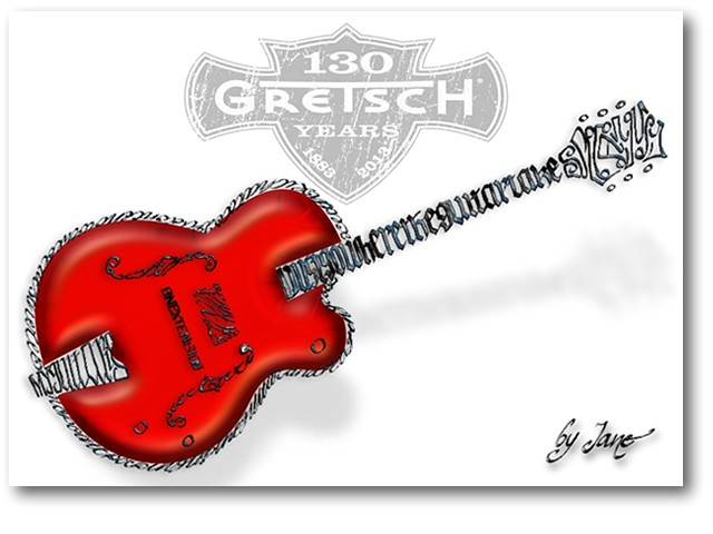 Gretsch Rock Guitar Card