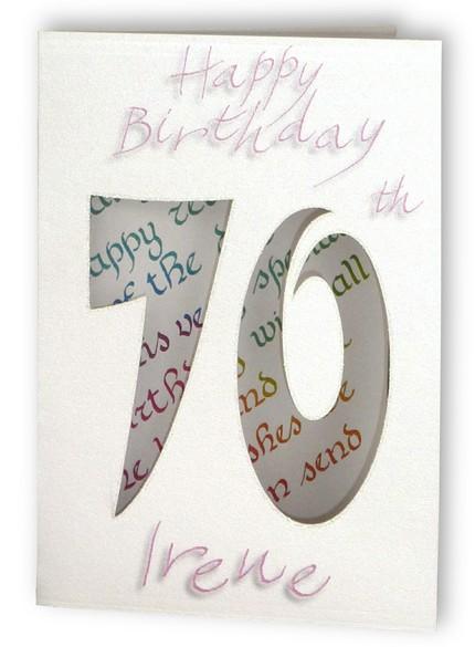 Tillykke med fødselsdagen skåret ud kortet