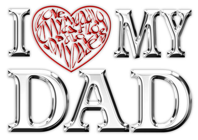 I Love (Heart) My Dad Card