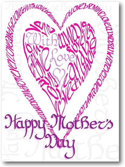 Pink Mother's Day Heart Card