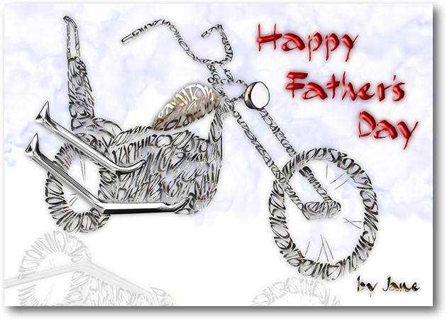 Father's Day Old School Chopper Card