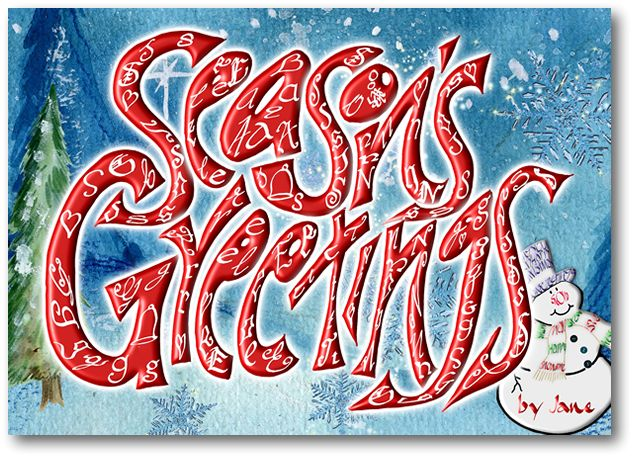Seasons Greetings calligraphy Card