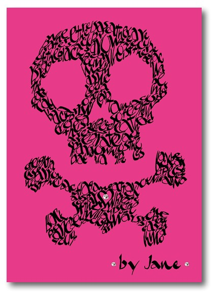 Pirate Skull & Crossbones on various colour backgrounds