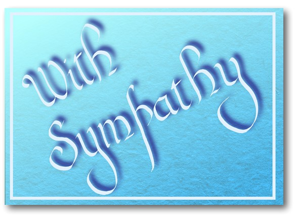 With Sympathy Calligraphy Card