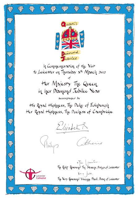 Diamond Jubilee Certificate