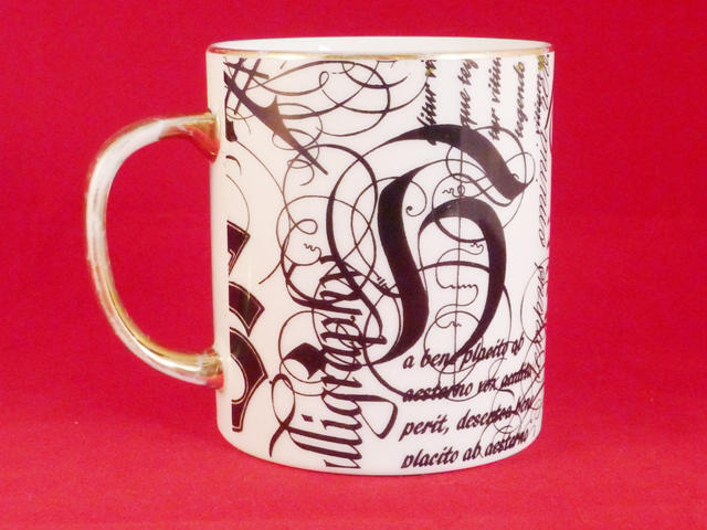 Calligraphy Themed Coffee Mug