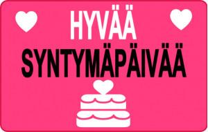 Hyvää syntymäpäivää sydän